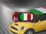 Mini Cooper S - Flag series - Italy - Red